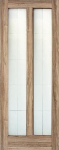Дверь Ладора 2/5, цвет орех бискотто, остекленная