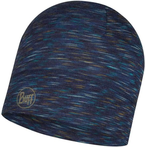Тонкая шерстяная шапка Buff Hat Wool Iightweight Denim Multi Stripes