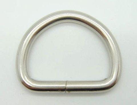 Полукольцо 34 х 25 мм. (никель)