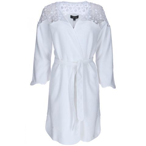 ROSELLA белый махровый женский халат Soft Cotton (Турция)