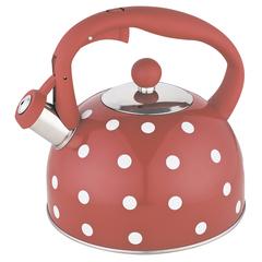 Чайник со свистком 2,7 л BE-0575 красный