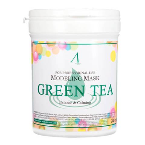 ANSKIN Маска альгинатная с экстрактом зеленого чая успокаивающая, антиоксидантная (банка) Green Tea Modeling Mask