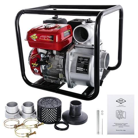 Мотопомпа бензиновая DDE PN81 (вых 80мм, 5.5 лc,32м,,48 м куб/час, 3,6л,26.5кг) (PN81), шт