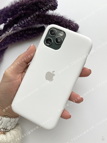 Чехол iPhone 11 Silicone Case /white/ белый original quality
