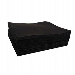 Одноразовые полотенца спанлейс черные Комфорт, 35х70см, 50шт./уп (поштучно)