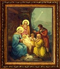 Рождество Христово. Икона на холсте.