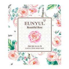 Eunyul Beautiful Rose Mask Pack - Тканевая маска для лица с экстрактом розы