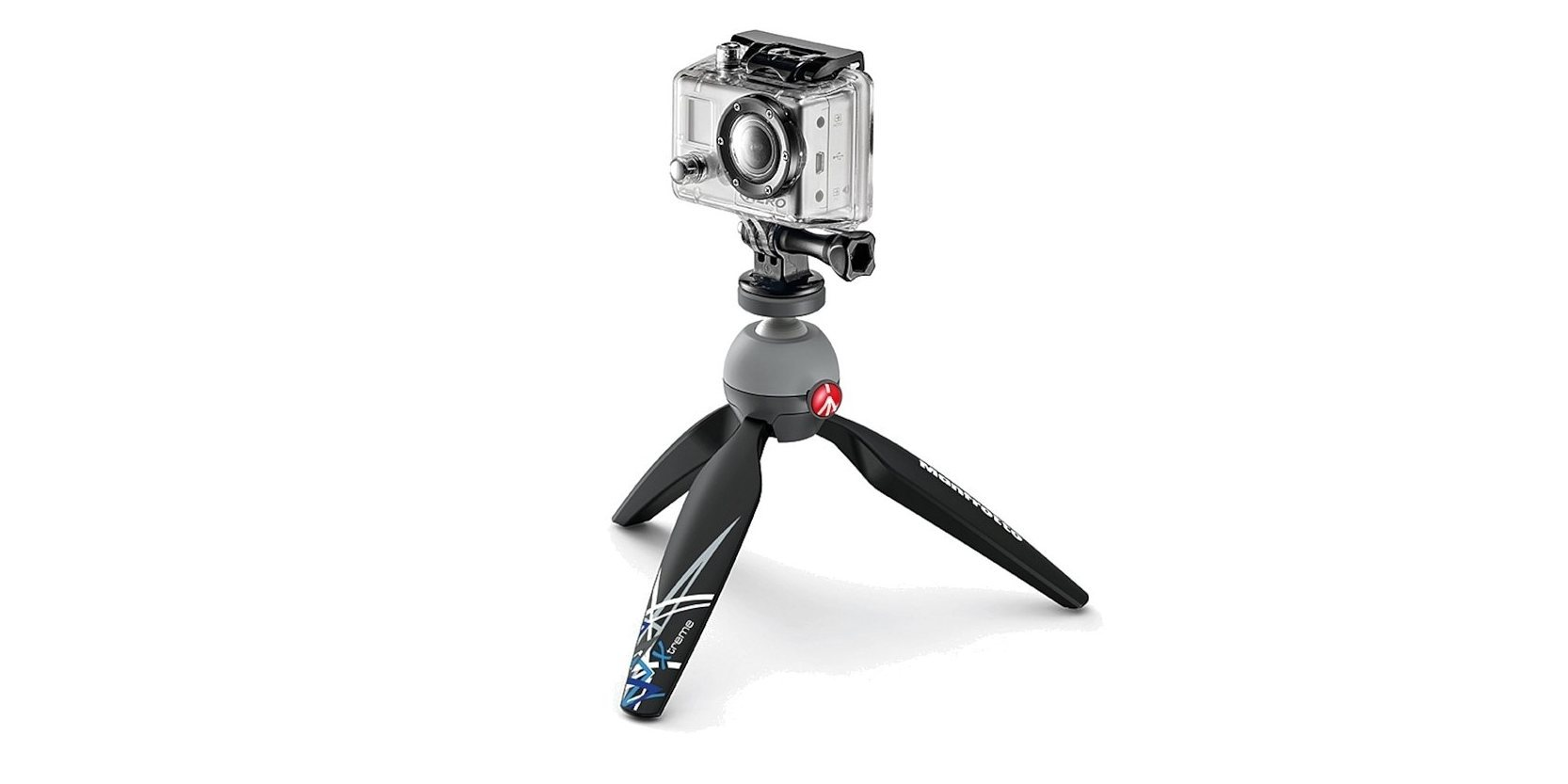 Штатив Manfrotto для экшн-камер с камерой