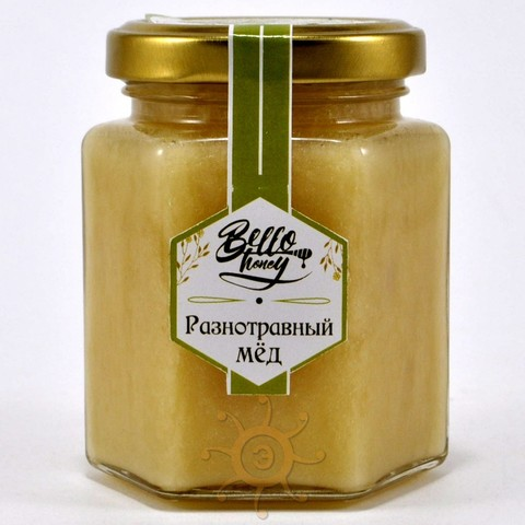 Мёд разнотравный BelloHoney, 300г