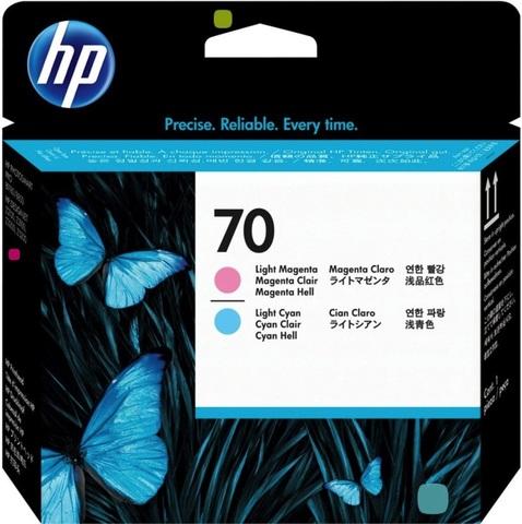 Печатающая головка №70 для HP DesignJet Z2100/Z3100/Z3200 светло-пурпурный и светло-голубой (C9405A)