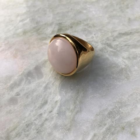 Кольцо Катара с розовой вставочкой