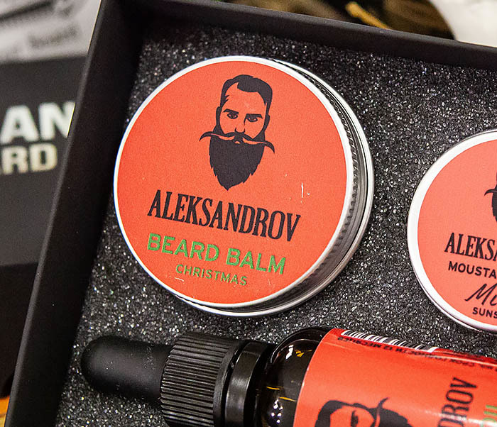 CARE120 Набор для бороды ALEKSANDROV «Christmas»: масло и бальзам, воск для усов фото 04