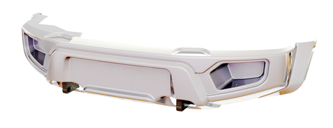 Усиленный композитный передний бампер УАЗ Патриот, Пикап, Карго белый АВС-Дизайн