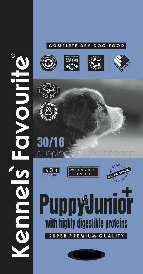 Акции Корм для крупных щенков Kennels' Favourite Puppy & Junior+ 9.970.jpg