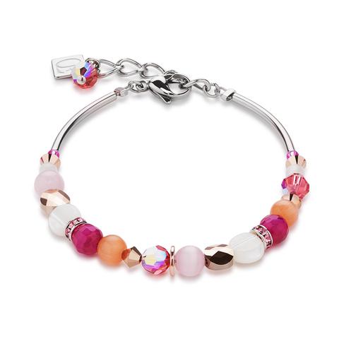Браслет Coeur de Lion 4914/30-0402 цвет розовый, оранжевый, белый