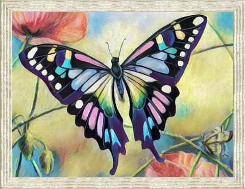 Бабочка  - картина из пайеток, CME008