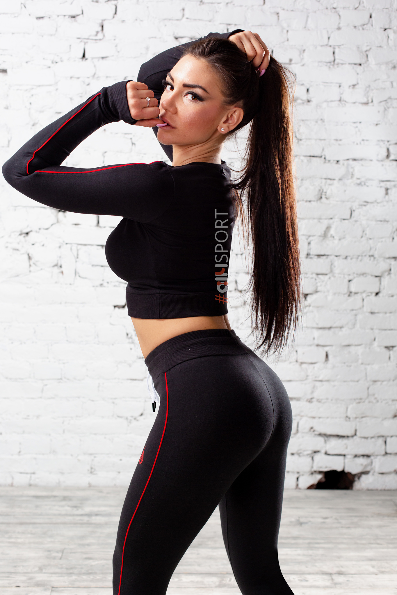 Женский укороченный свитер Ryderwear BSX Black