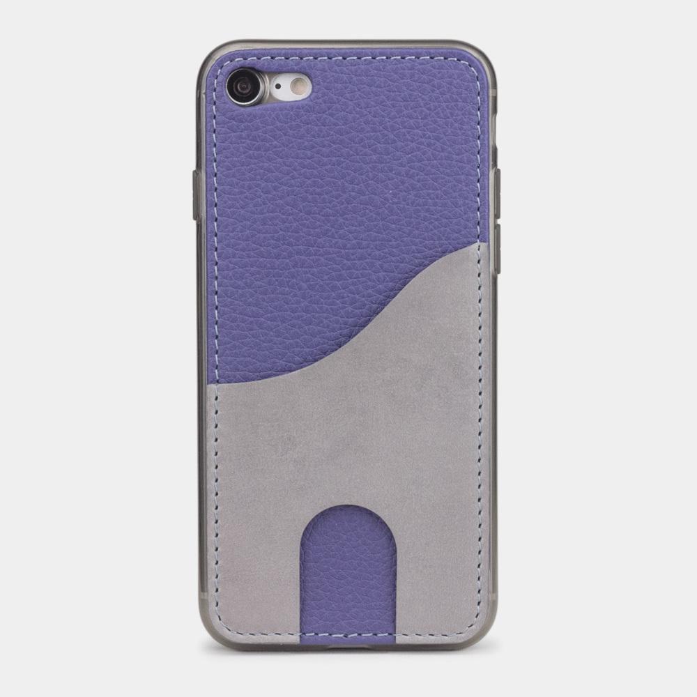 Чехол-накладка Andre для iPhone 7 из натуральной кожи теленка, цвета сирени