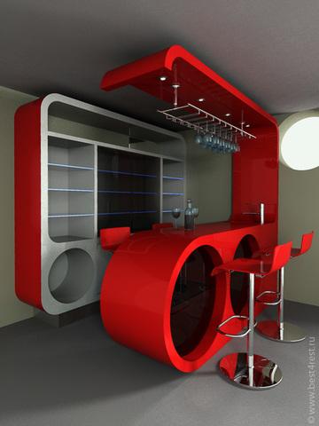 Дизайн-проект барной стойки в интерьере