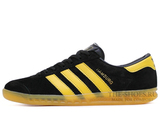 Кроссовки Мужские Adidas Hamburg Suede Black Yellow