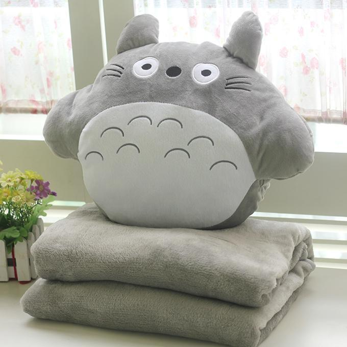 "Распродажа Подушка с пледом ""Тоторо"" totoro-doll-pillow-about-35-40cm-pillow-with-blanket-baby-blanket-cute-plush-toys-christmas-gift.jpg"