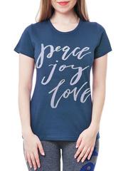 461134-1 футболка женская, синяя
