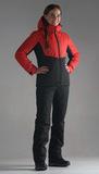 Женский утеплённый прогулочный лыжный костюм Nordski Montana Red-Black 2020