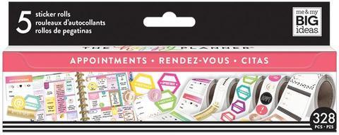 Набор стикеров в рулоне Happy Planner Sticker Roll -APPOINTMENTS- 360 шт.