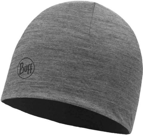 Тонкая шерстяная шапка Buff Hat Wool Iightweight Black-Grey