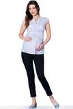 Блузка для беременных 01329 зеленый