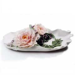 Lladro 1008650 — Блюдо TRAY WITH PEONIES