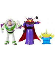 Игровой набор из 3 персонажей Баз Лайтер, Император Зург и пришелец Алиен - Toy Story (История Игрушек), Mattel