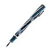 Роллер Visconti DIVINA Elegance Over синяя смола вставки 925 (VS-264-18) перьевая ручка visconti divina blck over корп черн смола ребра 925 перо пал 23 vs 263 02m