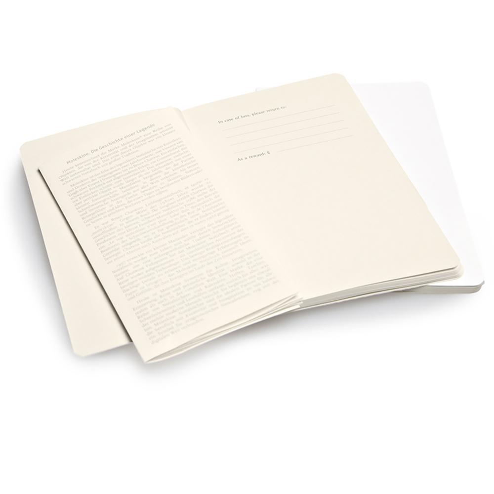 Набор 2 блокнота Moleskine Volant Pocket, цвет белый, без разлиновки