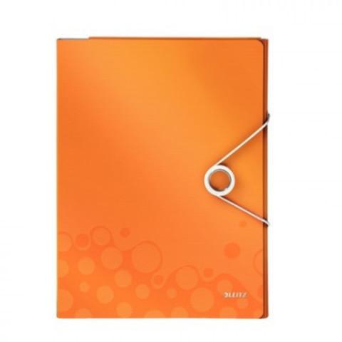 Папка органайзер Leitz WOW 46360044 с блокн. и угол.-разд.оранжевый