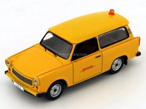 Trabant 601 Follow Me DHL HUB Leipzig 2001 yellow IST190 IST Models 1:43