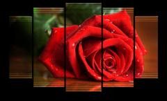 """Модульная картина """"Алая роза"""""""