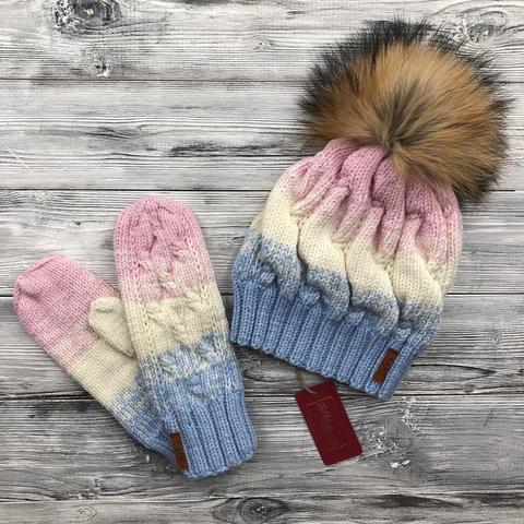Комплект: шапка, варежки