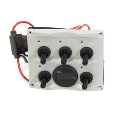 Панель управления (5 шт) с цифровым вольтметром, белая