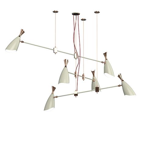 replica DUKE chandelier 6 LIGHTS by Delightfull ( white)