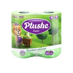 """Туалетная бумага """"Plushe"""" Classic Арома Яблоко 2сл 4шт"""