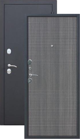 Дверь входная Гарда 7,5 см  Муар, 2 замка, 1,4 мм  металл, (чёрный муар+венге тобакко)