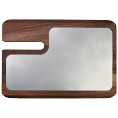 The cutting Board Red Line, Ash wood and stainless steel