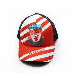Кепка сетка с логотипом Ливерпуль (Бейсболка Liverpool) красная