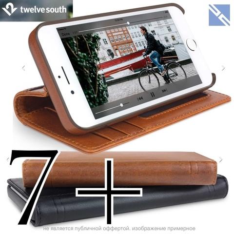 Чехол для iPhone Twelve South Journal iPhone 8+, 7+ кожа чехол-книжка коричневый 12-1664 Cognac