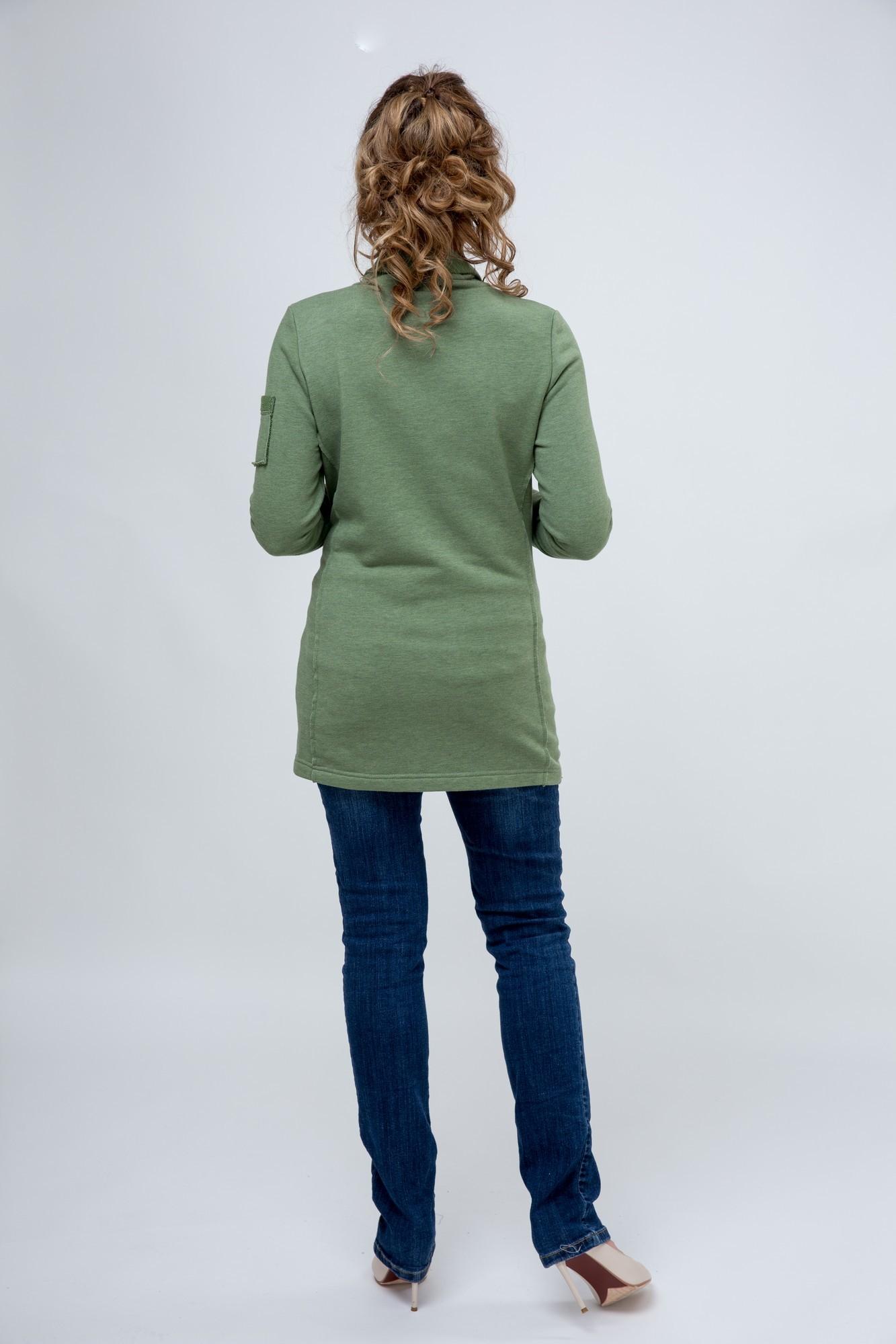 Блузка 08289 хаки - меланж