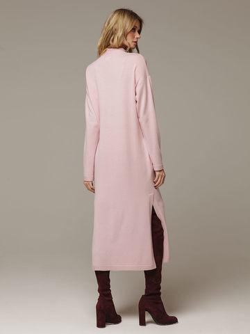 Женское розовое платье с разрезами из шерсти и кашемира - фото 3