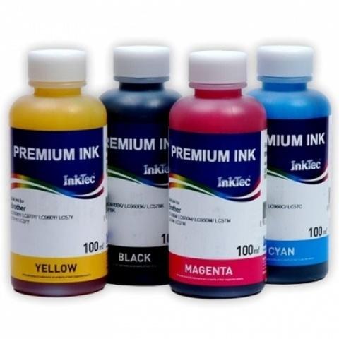 Комплект чернил InkTec H5088/H8950 пигмент + водные для принтеров HP (4x100 мл)
