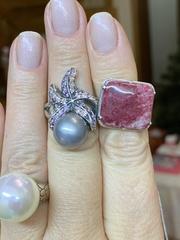 Лада Бол(кольцо + серьги из серебра)