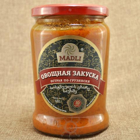 Закуска овощная по-грузински острая Мадли, 580г